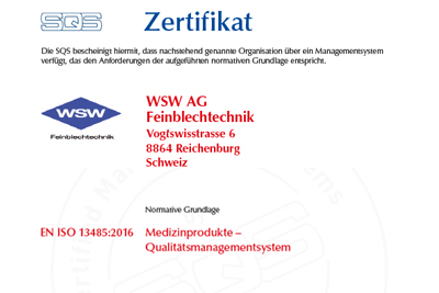 ISO13485-Medizinprodukte